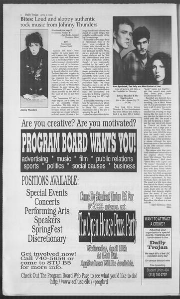 Daily Trojan, Vol. 127, No. 54, April 09, 1996