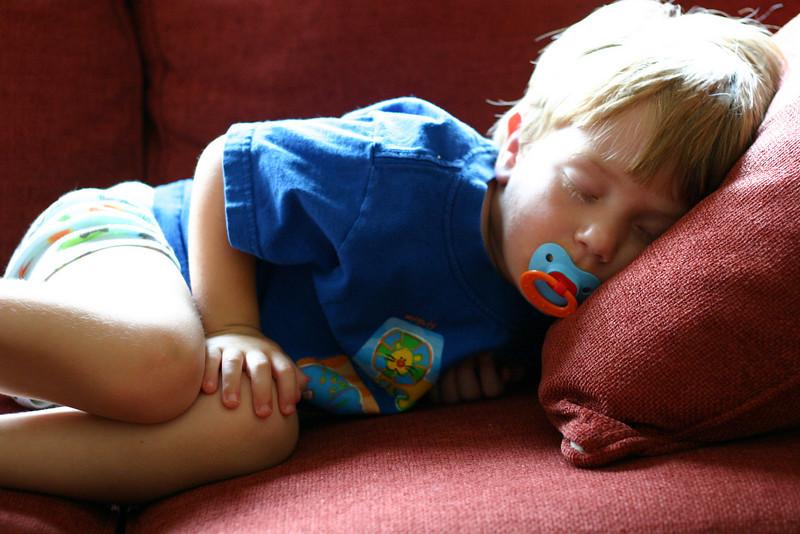 Tough guy sleeps.