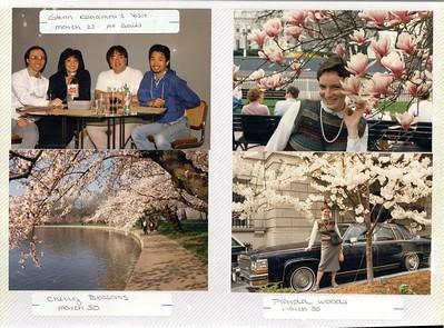 3-23-1988 Glenn Kanamori visit & Spring flowers