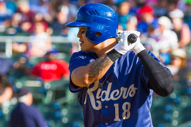 Frisco RoughRiders' Shin-Soo Choo at-bat during a major league rehab assignment in a game against the Springfield Cardinals at Dr. Pepper Ballpark in Frisco, Texas, Sunday, June 5, 2016. (Photo by Sam Hodde)
