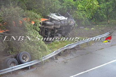 Plainview Overturned TT w/Pin S/B Rt. 135 at Wallace Dr 9-5-12