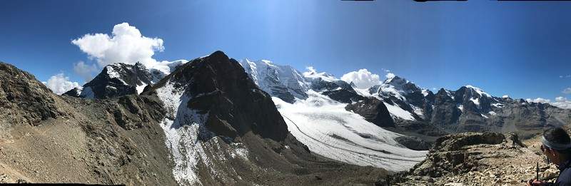 Panoramic view from Divolezza with Harvey in the corner