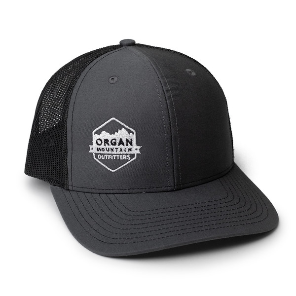 Organ Mountain Outfitters - Outdoor Apparel - Hat - Twill Mesh Trucker Cap - Charcoal Black.jpg