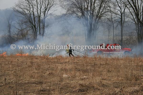 3/24/09 - Delhi Twp field fire, 2500 blk Sandhill Rd