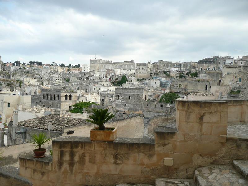 View of Matera from Hotel Sant Angelo