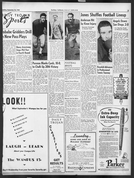 Daily Trojan, Vol. 32, No. 8, September 24, 1940