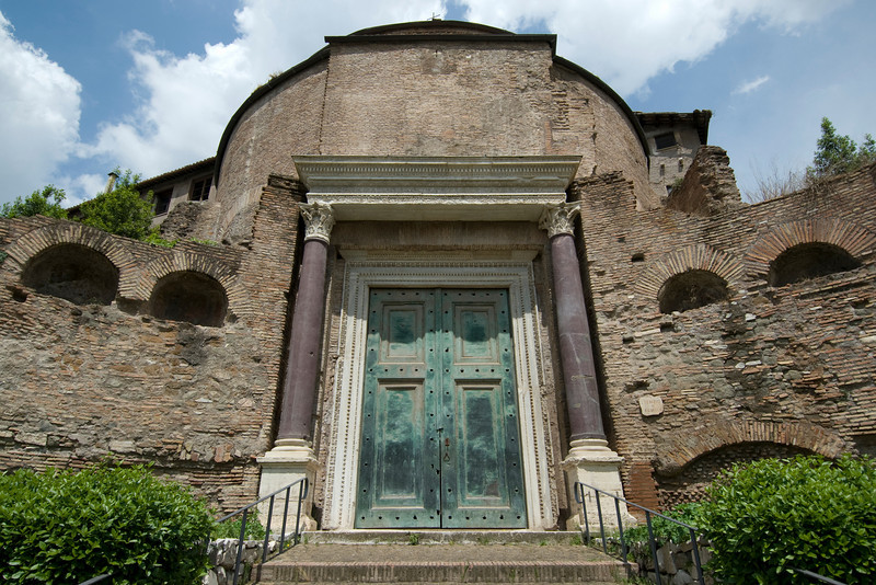 A structure inside Roman Forum in Rome, Italy