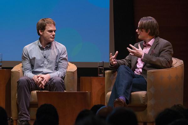 Michael C. Hall + Kevin Dutton in RMA's HAPPY TALK