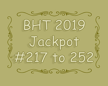 BHT Barrel Racing Jackpot #'s 217 to 252