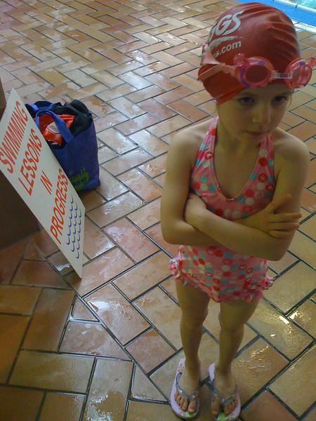 Swim lessons in progress