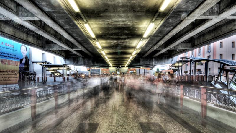 Commuters in Bangkok