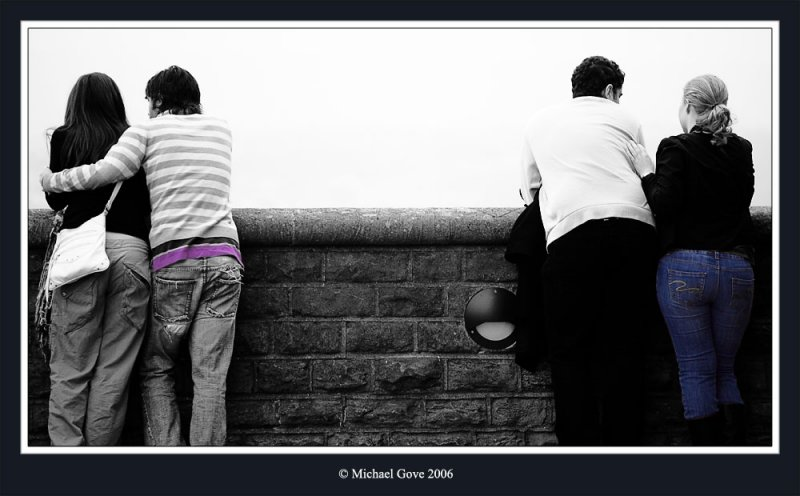 Couples looking out over Bristol from the Clifton Suspension Bridge (68581845).jpg