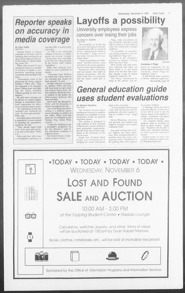 Daily Trojan, Vol. 116, No. 46, November 06, 1991
