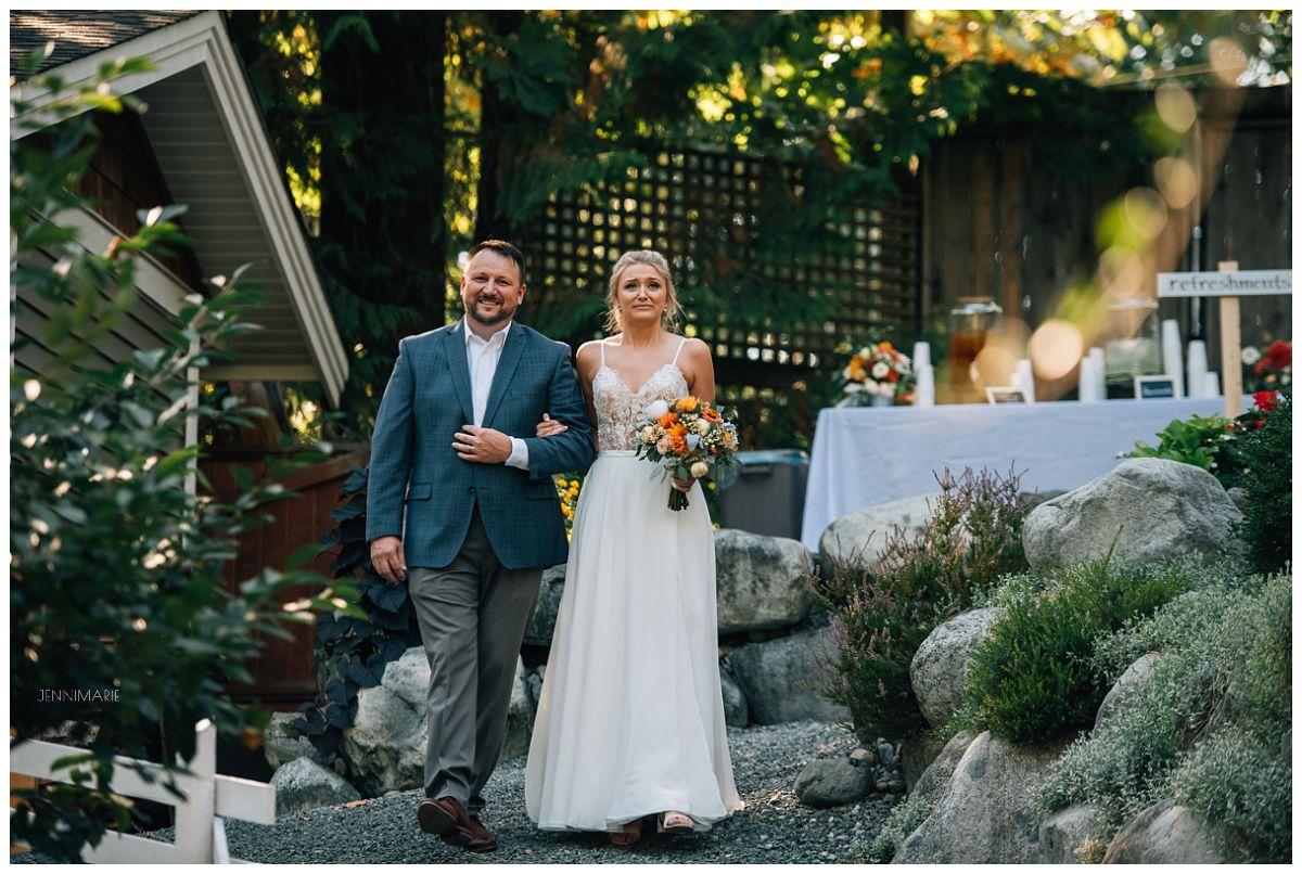 backyard wedding with shing weddings