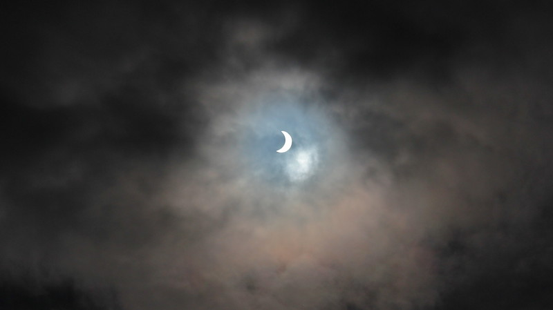 Solar eclipse seen from Scotland.