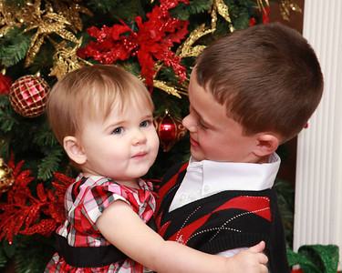 Olivia and Tyler, Christmas, 2011