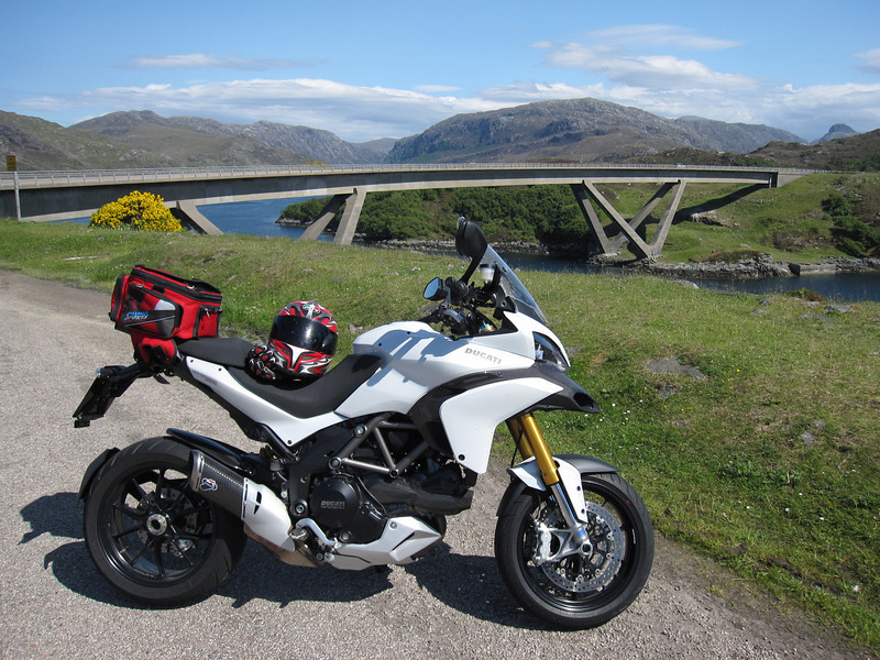Ducatisti.co.uk member 'superally' (aka Alistair) - Multistrada 1200S Sport - Kylesku Bridge nr Lochinver, Scotland