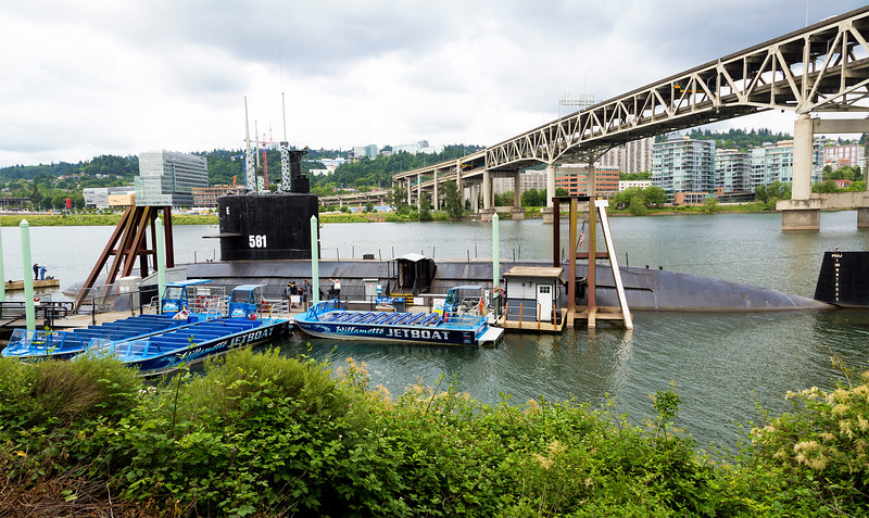 The USS Blueback submarine at the OMSI Museum