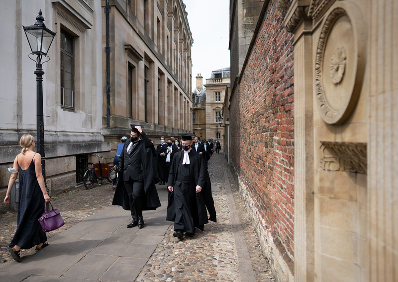 Degree Procession From Churchill College to the Senate House, Cambridge (Jul 2021)