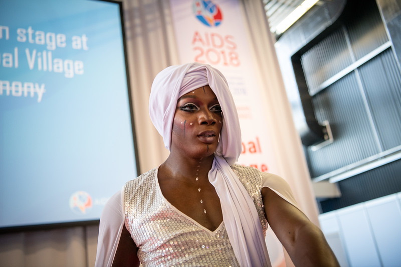 22nd International AIDS Conference (AIDS 2018) Amsterdam, Netherlands.   Copyright: Steve Forrest/Workers' Photos/ IAS  Photo shows: The Closing Party in the Global Village.