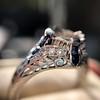 Art Deco Sapphire and Diamond Mounting 10