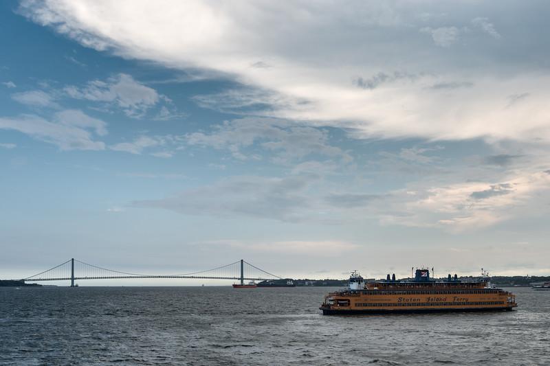 Verrazano-Narrows Bridge - Staten Island Ferry, New York, NY, USA - August 19, 2015