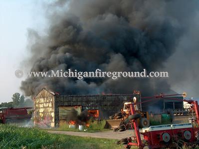 7/1/06 - Mason barn fire, 1365 Rolfe Rd