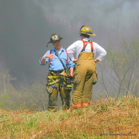Milford (CT) Marsh Fire ~ Silver Sands State Park