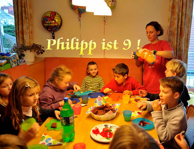 Philipp wird 9 Jahre alt