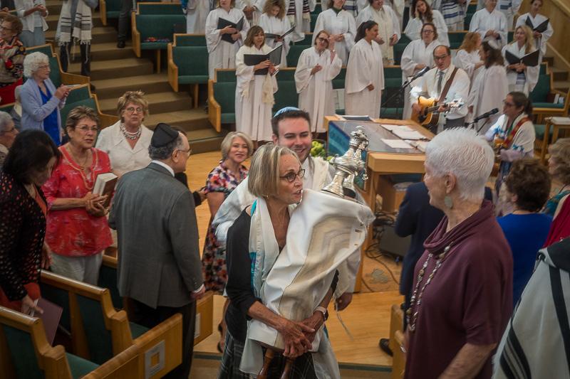 September 22 - Linda carrying the Torah on Rosh Hashanah.jpg