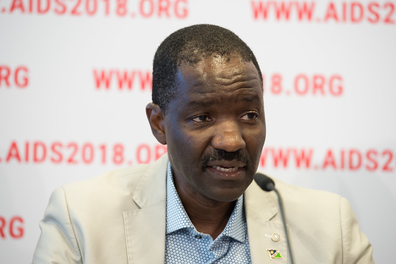 22nd International AIDS Conference (AIDS 2018) Amsterdam, Netherlands   Copyright: Marcus Rose/IAS  Photo shows: Press Conference: Sub-Saharan Africa: New Insights, New Impact. Hon. Minister Bernard Haufiku Minister of Health and Social Services, The Republic of Namibia