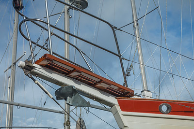 Refinished bowsprit after reinstallation.