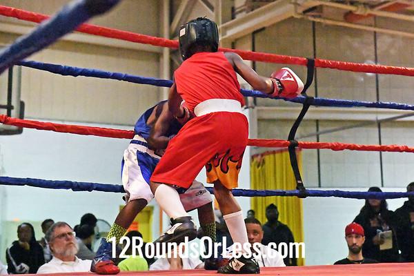 Bout #8:  Jaiden Jones, Red Gloves, CMBA/MLK EC PAL  vs  Naszier Weeks, Blue Gloves, Dream Team Boxing, MATCHED BOUT - 70 lb./75 lb. Bantam Division