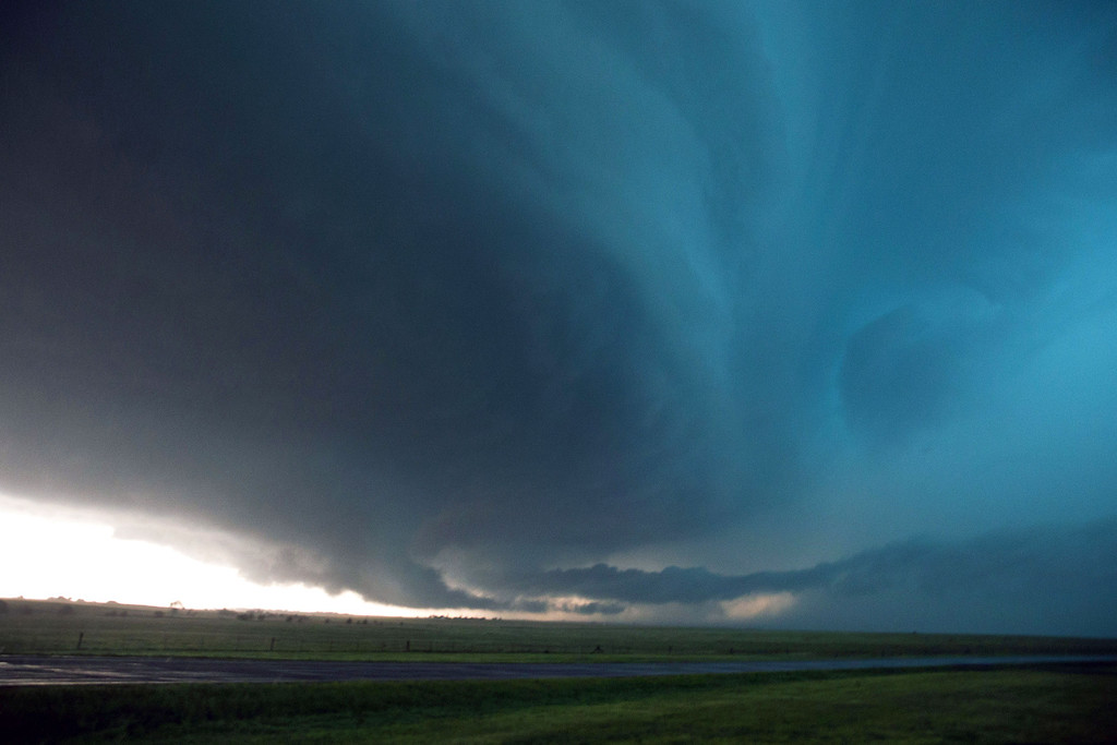 . A storm develops just before it produced a tornado near El Reno Okla. just south of Interstate 40 on Friday May 31, 2013. Several tornadoes in the area caused damage and injuries. (AP Photo/The World-Herald, Chris Machian)