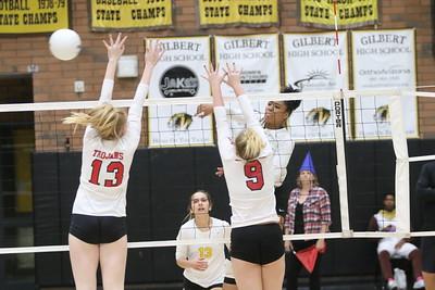 2019 Gilbert Girls Volleyball vs Paradise Valley High School 10-31-19