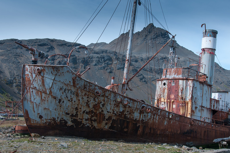 Shipwreck in Grytviken, South Georgia Island