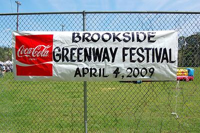 Brookside Greenway Festival 4-4-09  5K RUN
