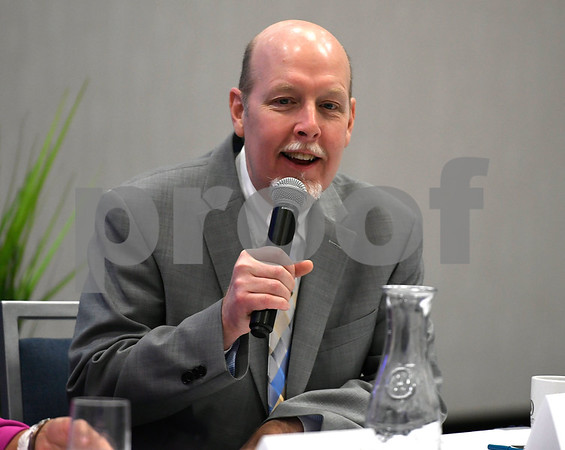 2/21/2018 Mike Orazzi | Staff State Senator Joe Markley during the Central Connecticut Chambers of Commerce 2018 Legislative Breakfast held at the DoubleTree by Hilton Hotel Bristol in Bristol Wednesday morning.