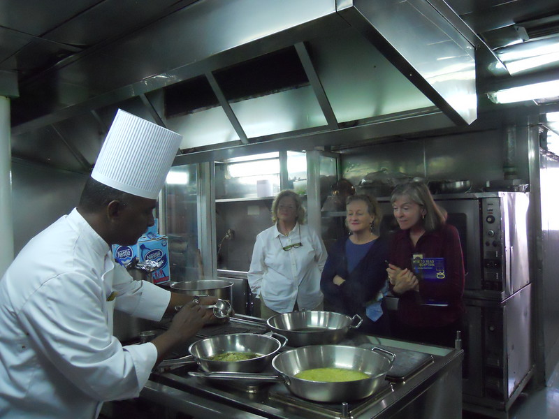 Cooking lesson aboard Sun Boat III -- Kimberly Collins