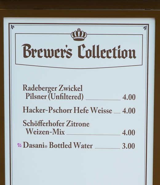 Brewer's Collection Menu - Epcot Food & Wine Festival 2016