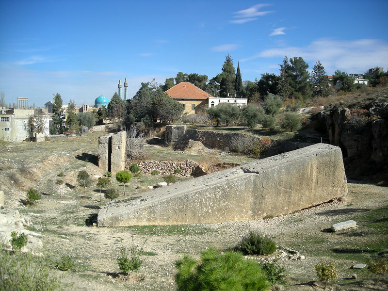 huge stone in the quary for Baalbek...waiting to be moved after a couple thousand years