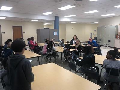 Board Member visits Monee Elementary