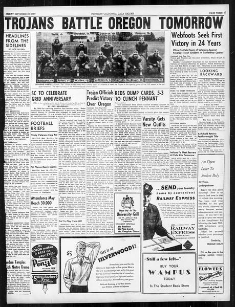 Daily Trojan, Vol. 31, No. 11, September 29, 1939