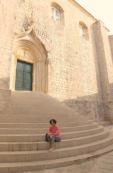 Beautiful steps of the Dominican Monastery - Dubrovnik