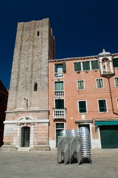 Unfinished bell tower, Campo Santa Margherita, Dorsoduro quarter, Venice, Italy