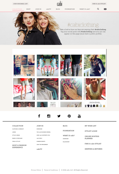 Cabi website e commerce