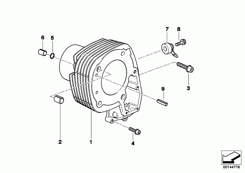 R1200GS engine cylinder barrel