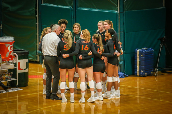 2018 University of Miami Volleyball vs. Georgia Tech