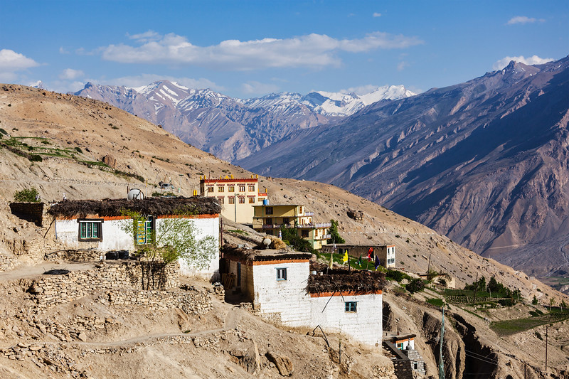 Dhankar village, Spiti valley