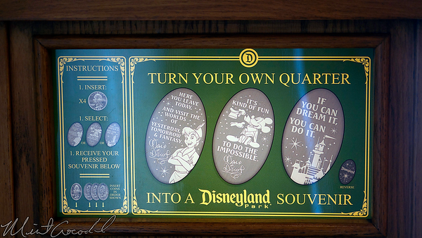 Disneyland Resort, Disneyland, Main Street USA, Candy Palace, Candy, Coin, Penny, Press, Walt Disney